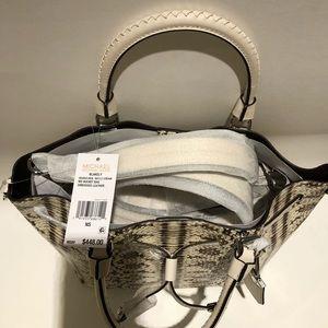 978820d87e265 Michael Kors Bags - Michael Kors Blakely Snake Embossed Med Bucket Bag